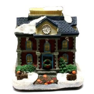Χριστουγεννιάτικο Σπιτάκι Με φώς με μπλε σκεπή 9 εκ