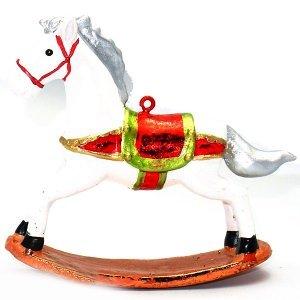 SP Χριστουγεννιάτικο Στολίδι Αλογάκι Λευκό 9cm