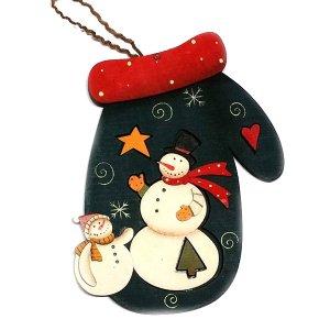 SP Χριστουγεννιάτικο Στολίδι Γαντάκι Μπλέ 20cm
