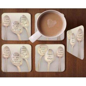 Σουβέρ Ξύλινα Χειροποίητα 'Spoons  Σετ 4 τεμάχια 40230