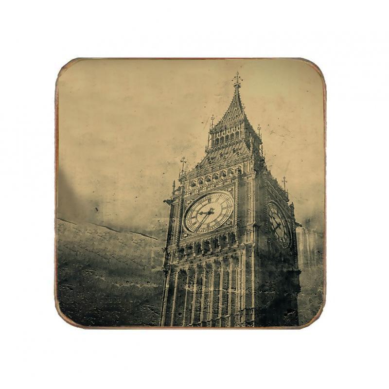 Σουβέρ Ξύλινo Χειροποίητo Big Ben  10078