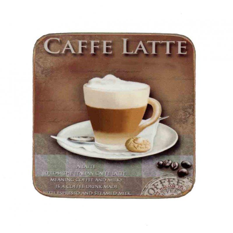 Σουβέρ Ξύλινo Χειροποίητo Caffe Latte  10037