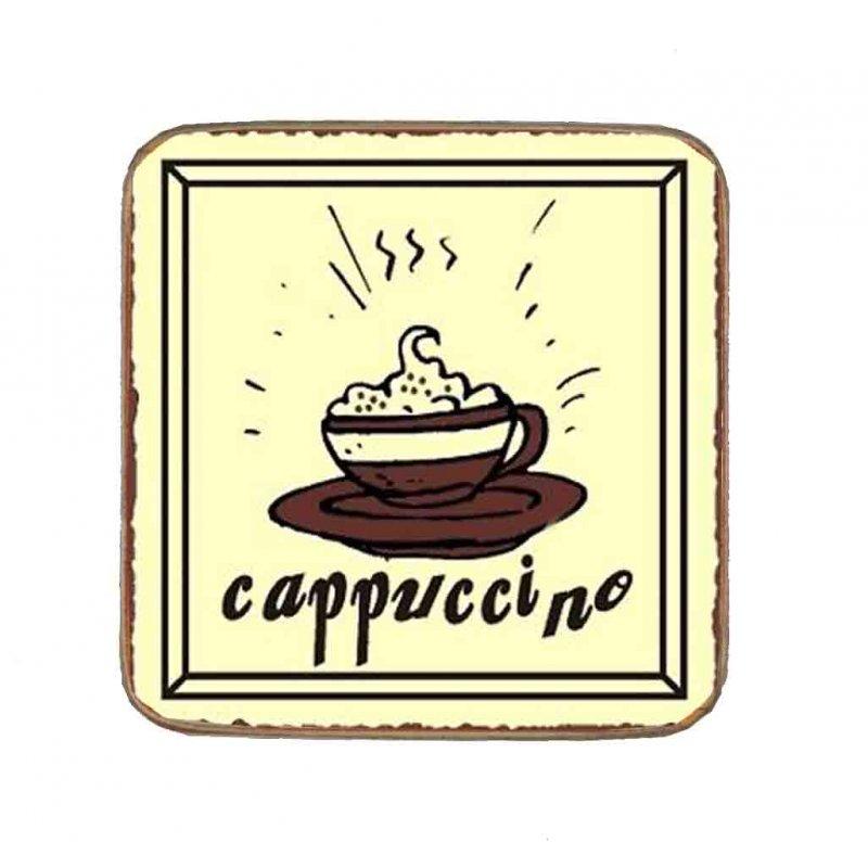 Σουβέρ Ξύλινo Χειροποίητo Cappuccino  10035