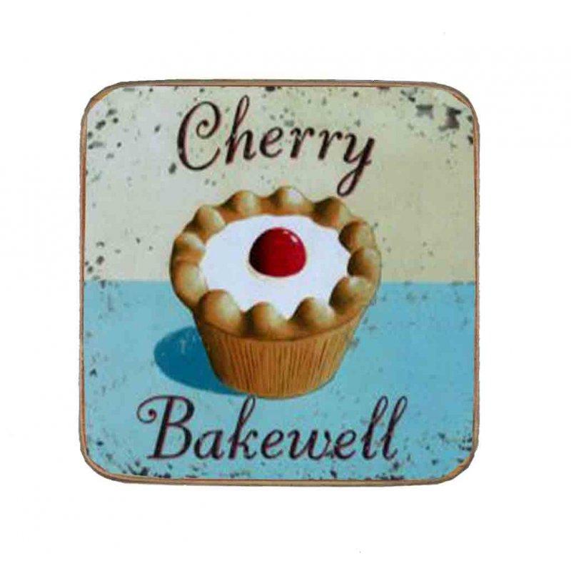 Σουβέρ Ξύλινo Χειροποίητo Cherry Bakewell  10057