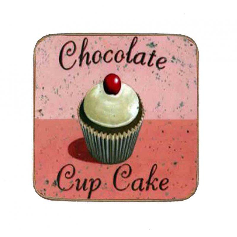Σουβέρ Ξύλινo Χειροποίητo Chocolate Cupcake  10058
