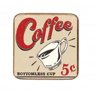 Σουβέρ Ξύλινo Χειροποίητo Coffee  10043