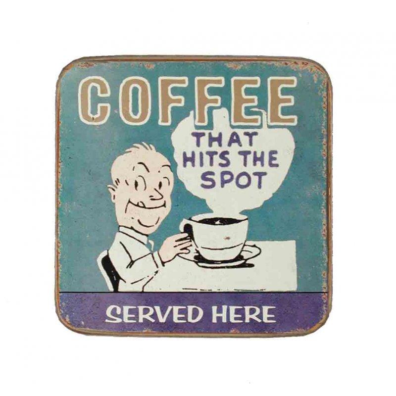 Σουβέρ Ξύλινo Χειροποίητo Coffee That Hits The Spot  10034