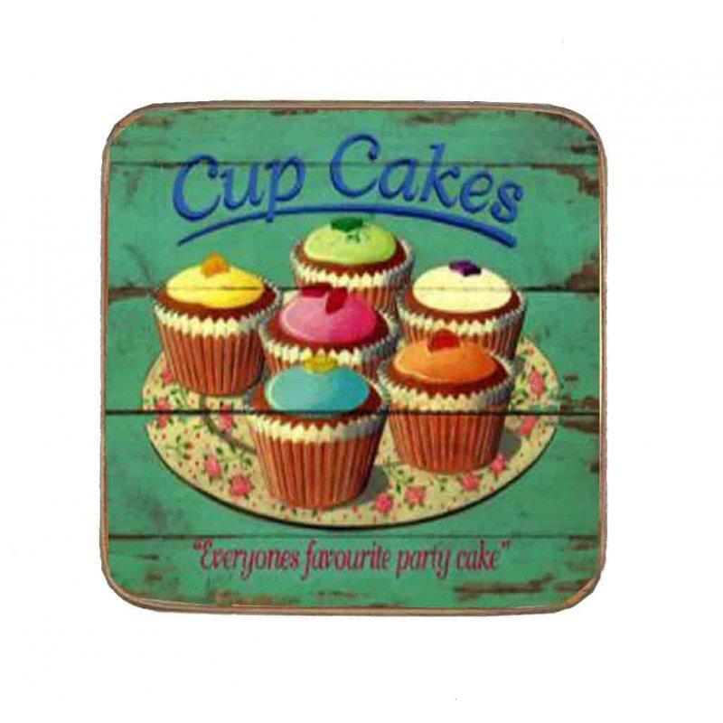 Σουβέρ Ξύλινo Χειροποίητo Cupcakes  10056