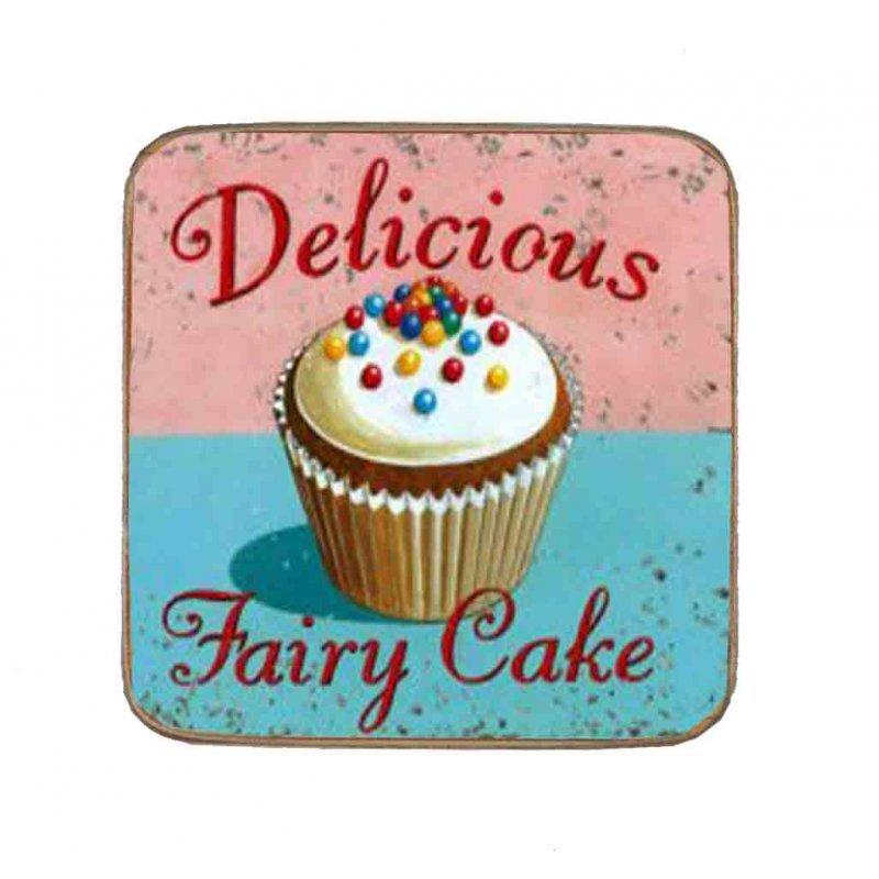 Σουβέρ Ξύλινo Χειροποίητo Delicious Fairy Cake  10059