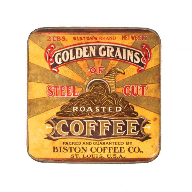 Σουβέρ Ξύλινo Χειροποίητo Golden Grains Coffee  10038