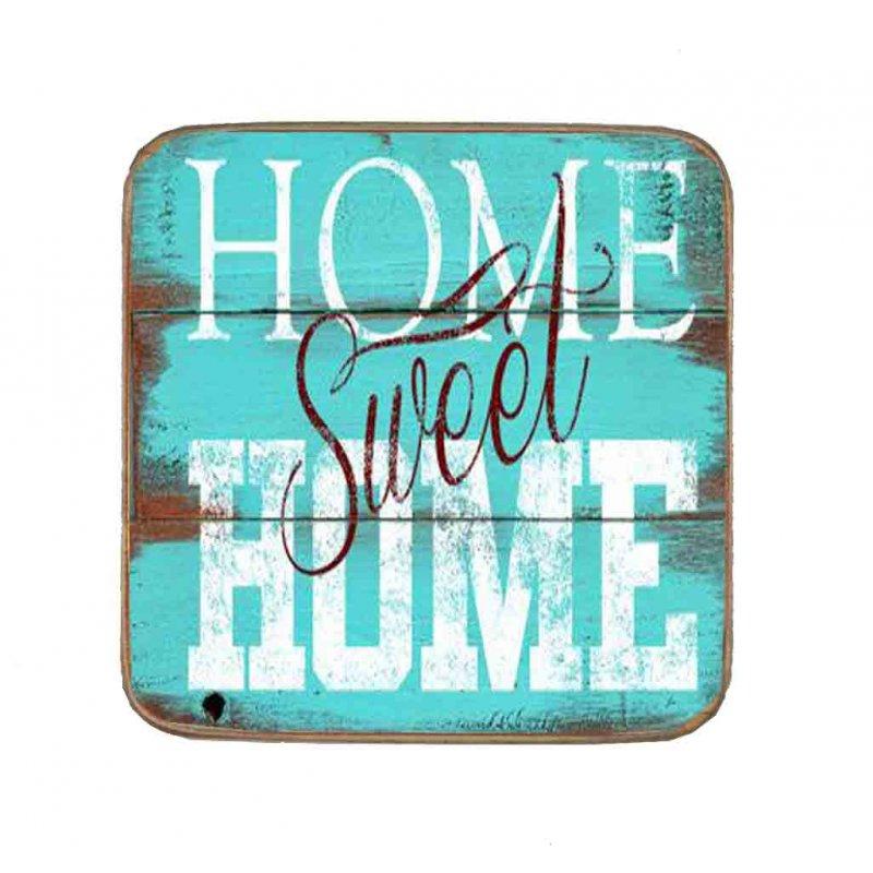 Σουβέρ Ξύλινo Χειροποίητo Home Sweet Home  10066