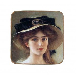 Σουβέρ Ξύλινo Χειροποίητo Lady  10023