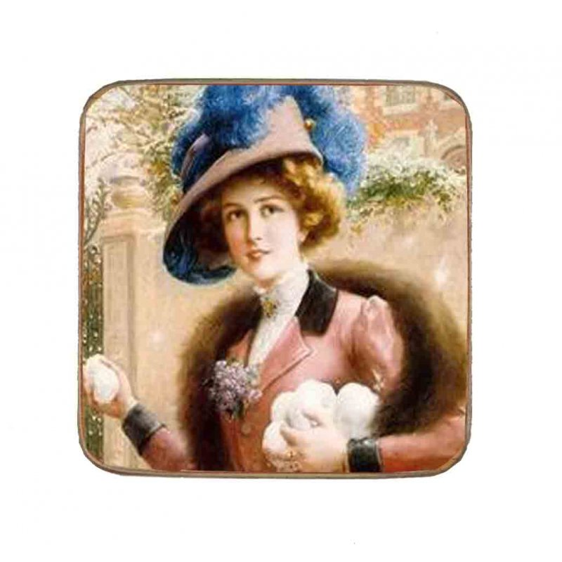 Σουβέρ Ξύλινo Χειροποίητo Lady  10024