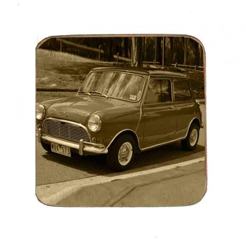 Σουβέρ Ξύλινo Χειροποίητo Mini Cooper  10082