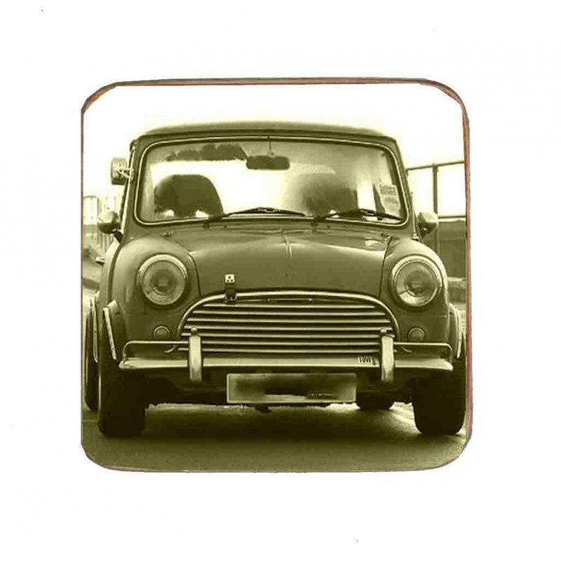 Σουβέρ Ξύλινo Χειροποίητo Mini Cooper  10083