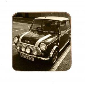 Σουβέρ Ξύλινα Χειροποίητα Mini Cooper Σετ 6 τεμάχια 60080
