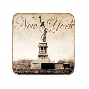 Σουβέρ Ξύλινα Χειροποίητα New York Σετ 6 τεμάχια 60190