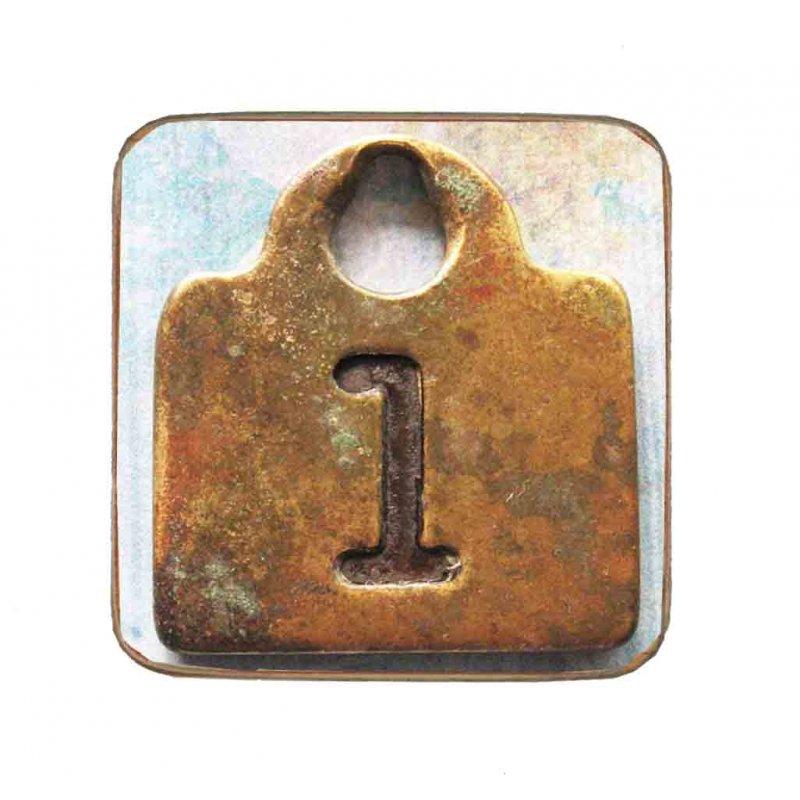 Σουβέρ Ξύλινo Χειροποίητo Number 1  10091