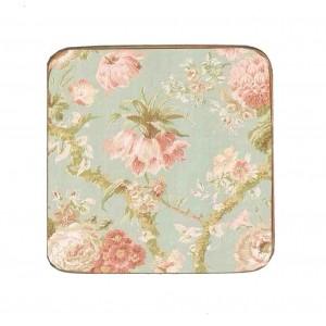 Σουβέρ Ξύλινo Χειροποίητo Romantic Floral  10011