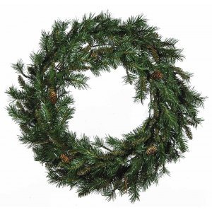 Brown Fir Χριστουγεννιάτικο στεφάνι με κουκουνάρια 120 εκ