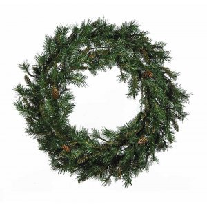 Brown Fir Χριστουγεννιάτικο στεφάνι πράσινο με διάμετρο 90 εκ