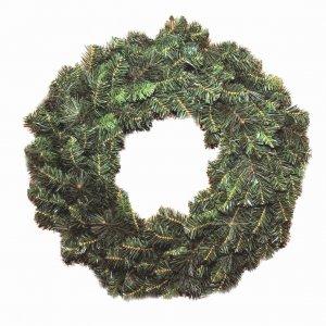 Στεφάνι Χριστουγεννιάτικο πράσινο μικτό ND και PVC με διάμετρο 75εκ