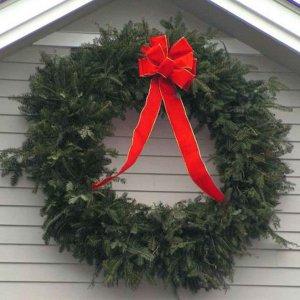 Στεφάνι Χριστουγεννιάτικο πράσινο μικτό ND και PVC με διάμετρο 75 εκ