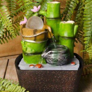 Διακοσμητικό συντριβάνι Bamboo III με τρεχούμενο νερό 16x13x23 ε&kapp