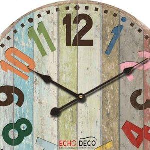 Colors Vintage Ξύλινο Ρολόι Τοίχου 48cm