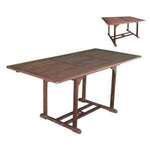 Επεκτεινόμενο Garden τραπέζι ακακίας 120x50x80εκ