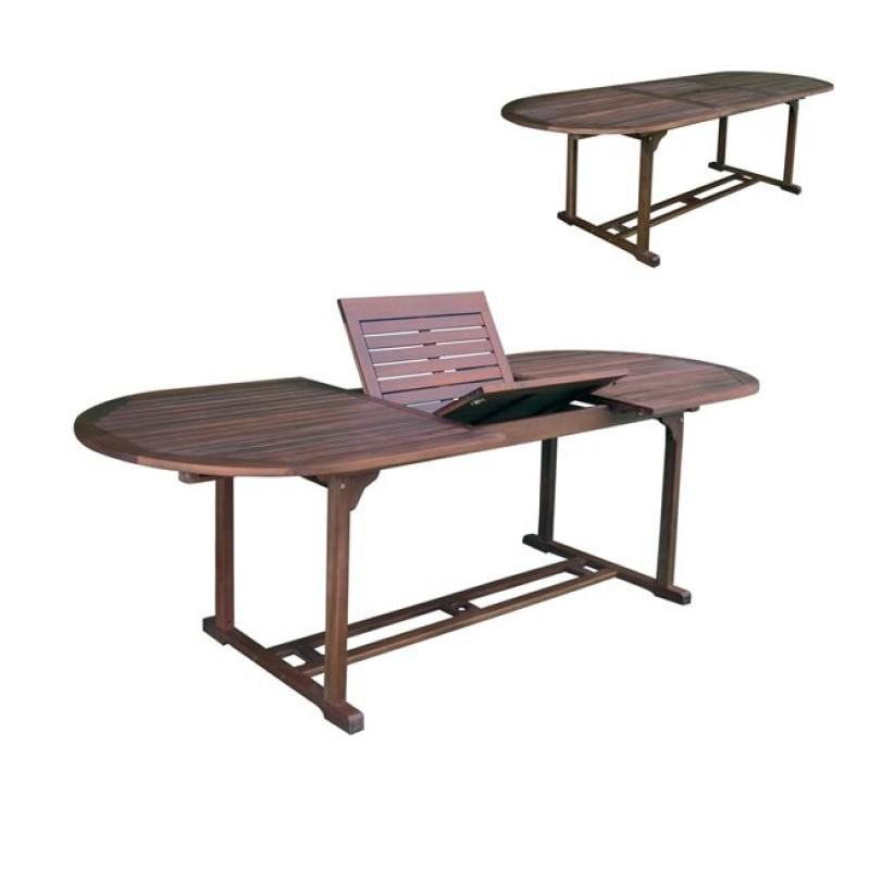 Τραπέζι ακακίας οβάλ Garden επεκτεινόμενο 180x240x90εκ