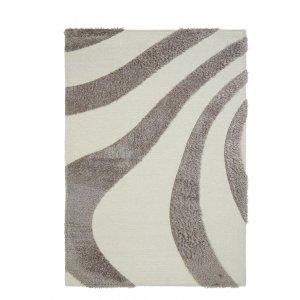 Branco Toscana βαμβακερό χαλί με σχέδιο ακανόνιστες ρίγες