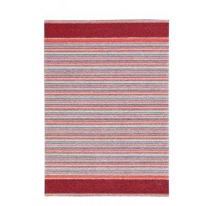 Laos βαμβακερό χαλάκι κόκκινο με ρίγες 162x230 εκ