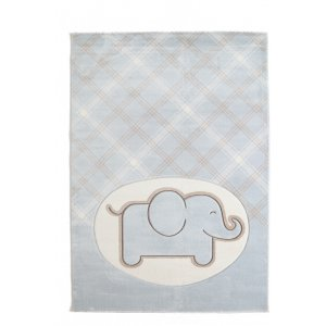 Sky χαλί παιδικό χαλί ελέφαντας μπλε