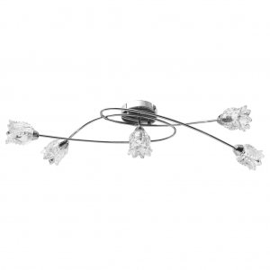 Φωτιστικό Οροφής + Καπέλα με Σχέδιο Λουλούδι για 5 Λαμπτήρες G9