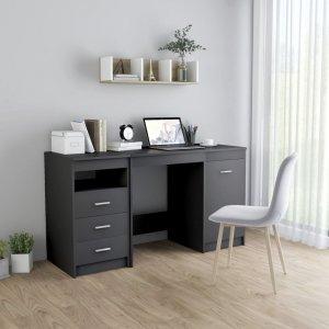 Γραφείο Γκρι 140 x 50 x 76 εκ. από Μοριοσανίδα