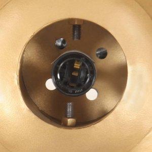 Φωτιστικό Κρεμαστό Μπρονζέ από Σίδηρο και Μασίφ Ξύλο Μάνγκο Ε27