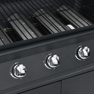 Ψησταριά Υγραερίου με 4+1 Ζώνες Μαγειρέματος Μαύρη