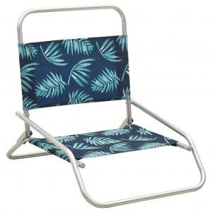 Καρέκλες Παραλίας Πτυσσόμενες 2 τεμ. Σχέδιο Φύλλων Υφασμάτινες