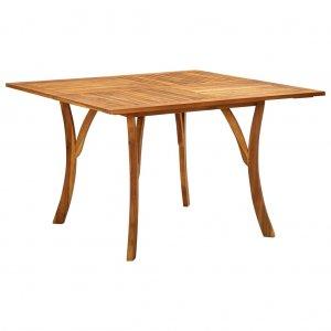 Τραπέζι Κήπου 120 x 120 x 75 εκ. από Μασίφ Ξύλο Ακακίας