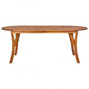 Τραπέζι Κήπου 201 x 100 x 75 εκ. από Μασίφ Ξύλο Ακακίας