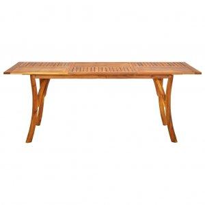 Τραπέζι Κήπου 201,5 x 100 x 75 εκ. από Μασίφ Ξύλο Ακακίας
