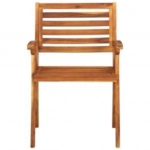 Καρέκλες Κήπου 2 τεμ. από Μασίφ Ξύλο Ακακίας
