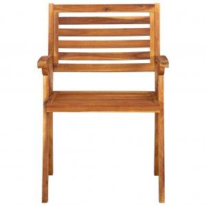 Καρέκλες Κήπου 3 τεμ. από Μασίφ Ξύλο Ακακίας