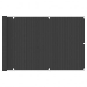 Διαχωριστικό Βεράντας Ανθρακί 90 x 300 εκ. από HDPE