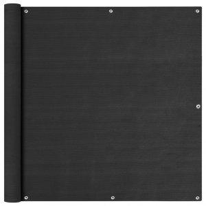 Διαχωριστικό Βεράντας Ανθρακί 120 x 600 εκ. από HDPE