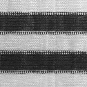 Διαχωριστικό Βεράντας Ανθρακί και Λευκό 120 x 500 εκ. από HDPE
