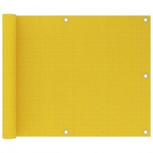 Διαχωριστικό Βεράντας Κίτρινο 75 x 600 εκ. από HDPE