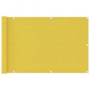 Διαχωριστικό Βεράντας Κίτρινο 90 x 400 εκ. από HDPE