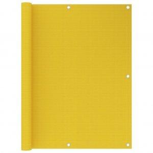 Διαχωριστικό Βεράντας Κίτρινο 120 x 400 εκ. από HDPE